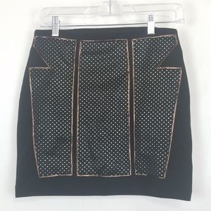 Silence + Noise Black Gold Skirt Urban Outfitters